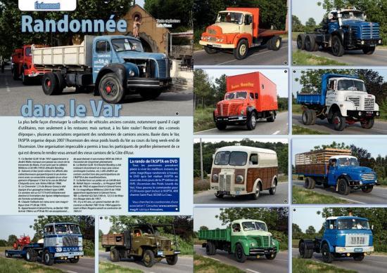 Article extrait du magazine CAMIONS D'HIER ET D'AUJOURD'HUI               (revue n°15 / Août 2009)