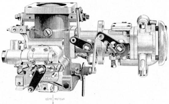 mélangeur avec carburateur accouplé type MSXI pour montage inversé