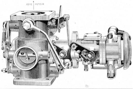 mélangeur avec carburateur accouplé type MSXV pour un montage vertical