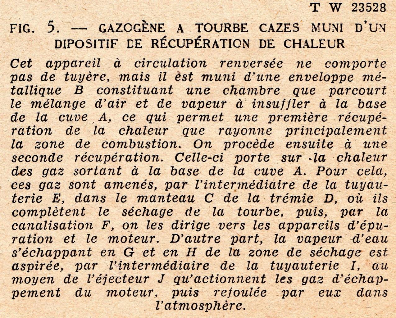 texte Gazogène à tourbe Cazès